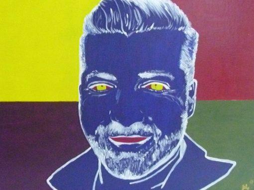 Colección, retrato a color JCLL, acrilico sobre lienzo, 61×50