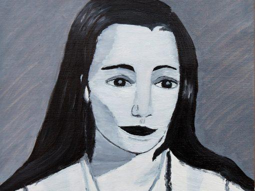 Colección, Retrato a color LR, oleo sobre papel, 30×40